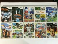 NINTENDO WII GAME LOT | MARIO SONIC OLYMPICS, PLAY, DECA SPORTS, GOLF, FIFA