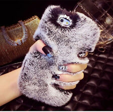 Luxury Fluffy Hybrid Soft Back Cover Case For iPhone 5S 5C 6 6 Plus For Samsung
