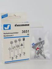 3651 VIESSMANN - ESCALA H0 - SEÑALES DE TRAFICO - SET 1 (c5)