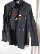 Ely Diamond Vintage Long Sleeve Western Shirt Men's Country Cowbow Eagle biker