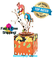 Song of Bird & Tree Hand Crank MusicBox Diy Wood Craft Kit-3d Wooden Puzzle Gift