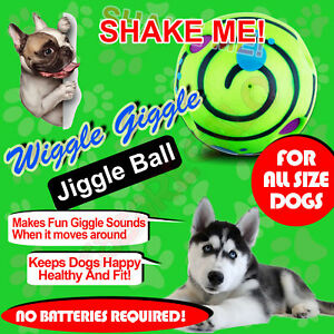 Wobble Wiggle Wag Jiggle Giggle Ball Pet Dog Ball