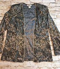 Vintage Women's Stretch Velvet Size 18 Jacket Made In Korea Poly/Spandex
