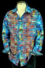 Robert Graham Cusack Embroidered Circuit Board Sports Shirt 2xl