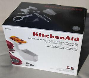 KitchenAid Mixer ATTACHMENTS - Food Grinder & Fruit/Vegetable Strainer Set NEW