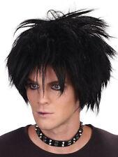 80's Spikey Rock Star Wig Gothic Punk Celebrity Rocker Fancy Dress Accessory New