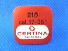 CERTINA ORIGINAL 210 CALIBRE 17-351 Roue moyenne Kleinbodenrad Third wheel NOS
