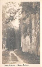 Nassau, Bahamas ~ Queen'S Staircase, Real Photo Pc ~ used 1935