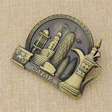 3D Metal Qatar Fridge Magnet Magnetic Stickers Travel Souvenir Home Decoration