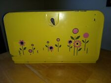 VINTAGE METAL LINCOLN BEAUTY WARE BREAD BOX Yellow beautyware  RV tiny home camp