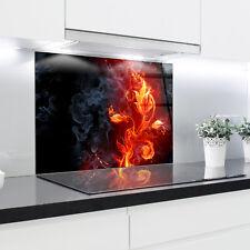 Kitchen Glass Splashback Heat Resistant Toughened Glass 90cm x 65cm