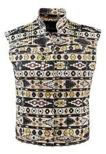 GUESS BY MARCIANO WOMENS ELIN KLING KARIN TRIBAL VEST SIZE L