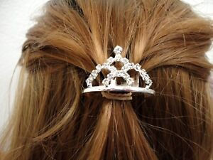 Girls Rhinestone Princess Hair Clip Wedding Crown Comb Tiara Mini CH09-114
