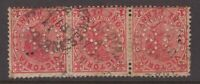 Victoria PUBLIC OFFICES MELBOURNE unframed 1911 postmark 3 x 1d red QV (OS)