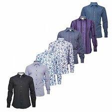Marks and Spencer Men's Long Sleeve Collared Casual Shirts & Tops