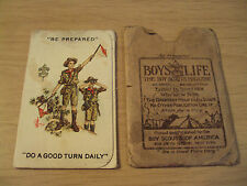 "RARE 1923-24 BSA ""BOY SCOUTS"" Booklet/Card/Folder~GREAT Graphics~"