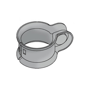 Fence Fitting Universal Rail Clamp Gal