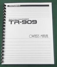 Roland TR-909 Owner's Manual: Comb Bound & Protective Covers!
