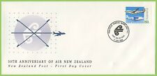 New Zealand 1990  50th Anniversary of Air New Zealand First Day Cover