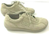 ECCO Womens Size 6.5M Comfort Shoes Beige Leather Sneakers Lace Up