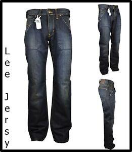 Lee Jeans pantaloni da uomo larghi gamba larga a zampa hip hop skate 44 46 48 50