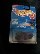 1995 Hotwheels Mattel Big Bertha #489 Military Tank Purple Toy