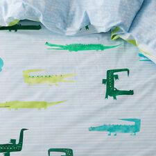 ADAIRS Crazy Croc Crocodile COT (Junior Bed) QUILT COVER SET BNIP blue green