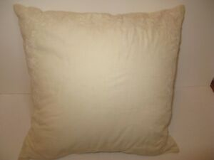 Ralph Lauren Village Mews Cream Embroidered Decorative Pillow $175
