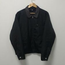 Vintage Chore jacket french work worker smock leather collar Oi Polloi L