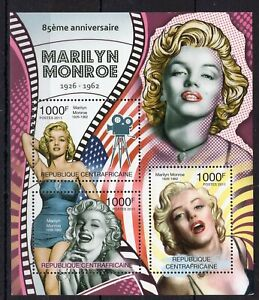 Central Africa - Marilyn Monroe - Hollywood Star - perf. stamps MNH** - AM3