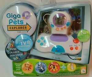 Hasbro Giga Pets Explorer TV Game System Plug & Play by Tiger Games New in Box