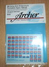 Archer 1/35 British 8th Army AOS & Formation Signs 1940-1942 #2 (7mm) AR35068.7