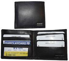 man's wallet leather wallet black hipster bifold 2 billfold 8 credit card slots