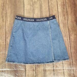 Long denim Snoopy skirt original Peanuts pencil denim skirt 38 EUR. 90s vintage gray jean skirt size 8 US 10 UK