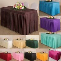 Fitted Tablecloth Cover Rectangular Table Cloth Skirt Polyester Party Home Decor