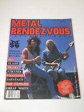 Metal Rendezvous Magazine-Vol. 3 #7 1987 DIO Slade Heart Stryper Phantom-Rock