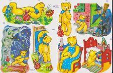 1 Bogen Glanzbilder Poesie Teddybären MLP 1465 Nr.561