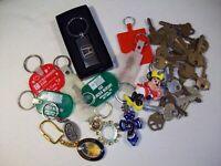 KEYS KEYCHAINS  Large lot mixed Brass Vtg Keys misc Keychains