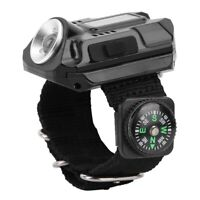 Tactical USB Rechargeable CREE LED Wrist Watch Flashlight Torch Lamp Light UK