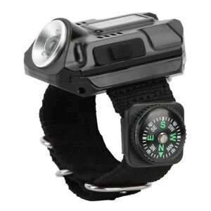 Tactical USB Rechargeable CREE LED Wrist Watch Flashlight Torch Lamp Light UK 1x