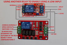 Multifunction PLC Delay 12V FRM01 Timer Module Relay Module Cycle Self-locking