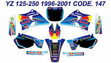 147 YAMAHA YZ 125-250 1996-2001 Autocollants Déco Graphics Stickers Decals Kits