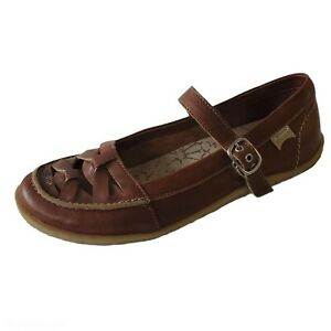 Camper Womens Mary Jane Ballet Flats 9 Brown Leather Round Toe Comfort Casual