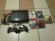 SONY PLAYSTATION 3 CONSOLE BUNDLE LOT 2 CONTROLLERS CECH 4201B 5 GAMES SLIM 250