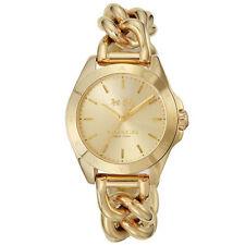 Coach Womens Watch Gold TRISTEN Chain Bracelet Gold Dial 14502310