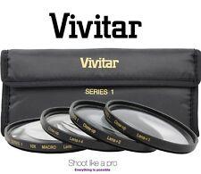 Hi Def 43mm Vivitar Close-up 4-Pc Kit Macro Lens Set (+1 +2 +4 +10)