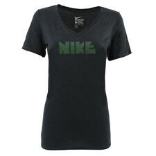 1fbe89c6ae4d Nike Women s Print Block Athletic Gym T-Shirt Black Graphic Tee