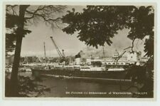 Steam Ship St. Julian at Weymouth Dearden & Wade C.M.1177 RP Postcard, C080