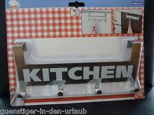 WENKO Türgarderobe Küchengarderobe Garderobe Handtuchhalter Halter Türhaken