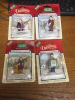 Vintage LEMAX Christmas Village Porcelain People Figurines Lot of 4